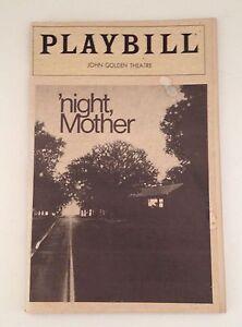 Playbill-Night-Mother-Kathy-Bates-1983-John-Golden-Theatre-Souvenir