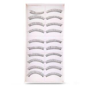 1X-10-paires-de-Faux-Cils-en-Fibres-Reutilisables-Maquillage-Yeux-N6B1-3i8