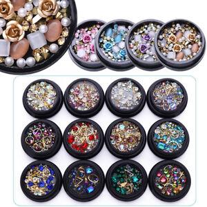 Nail-Art-3D-DIY-Rose-Rhinestones-Jewelry-Gems-Mix-Nail-Art-Decoration-Glitter