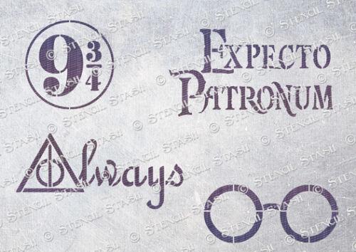 Mix2 HM2 3 tamaños de plantilla de Hogwarts Harry Potter Muebles superior de Mylar de 250