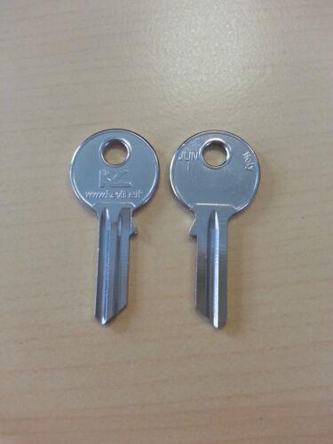 10 x Schlüssel Rohlinge Rohling JUN1 618K JN4 JUNI-1D JU1 JUNIE//20 MM