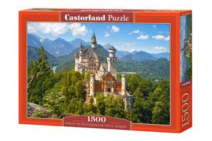 """Brand New Castorland Puzzle 1500 VIEW OF THE NEUSCHWANSTEIN 27"""" x 17.5""""C-151424"""