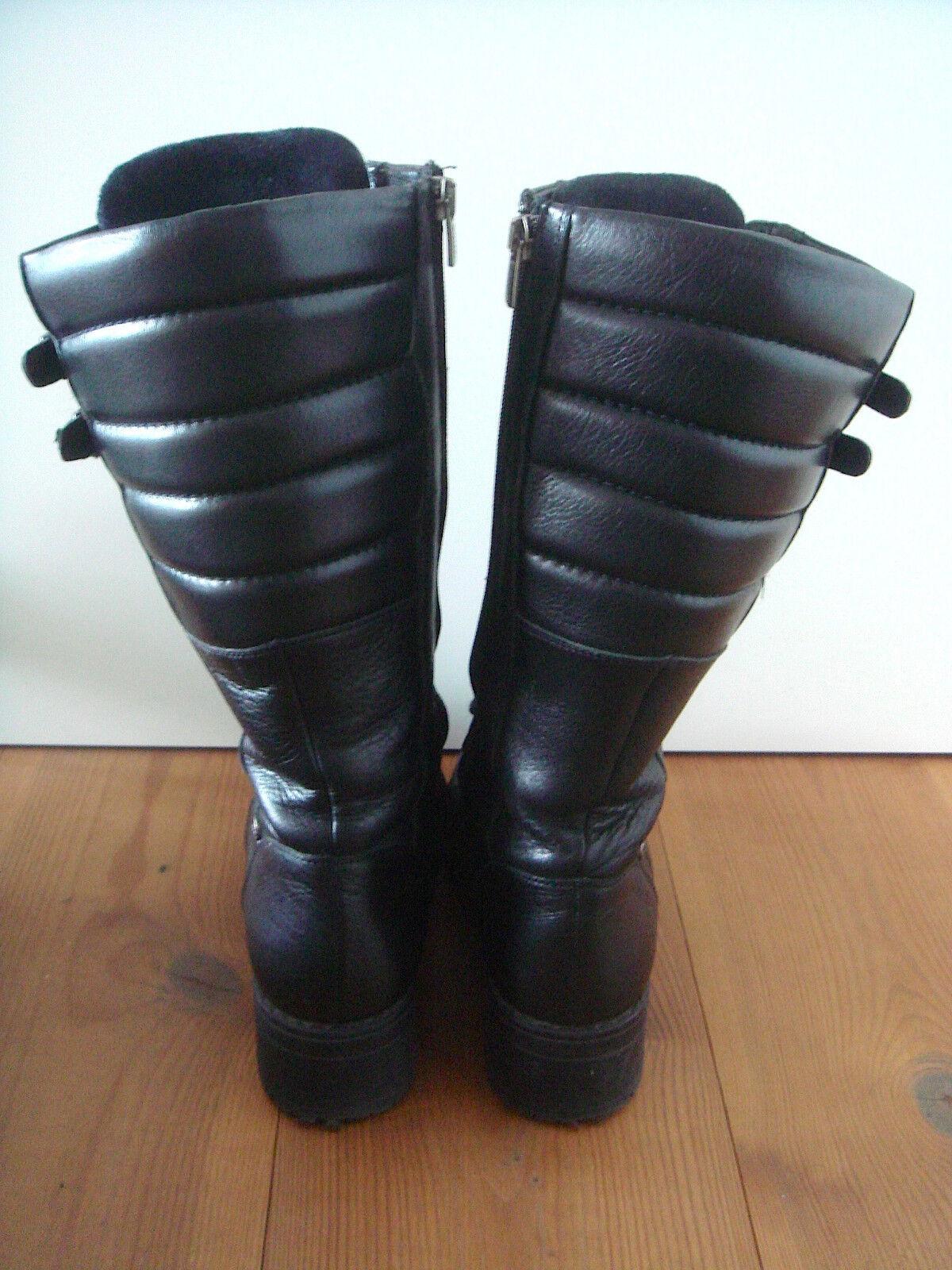 Nuevos zapatos para hombres venüs y mujeres, descuento por tiempo limitado Alta calidad venüs hombres botas wadenlang negro cuero genuino con tacón 731231