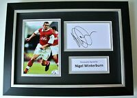 Nigel Winterburn SIGNED A4 FRAMED Photo Autograph Display Arsenal Football & COA