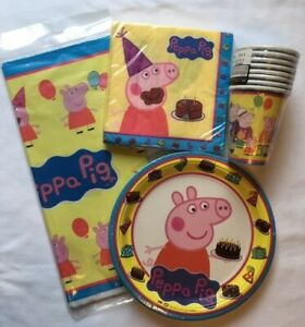 Peppa-Pig-Party-Supplies-Tableware-Items