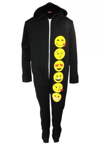 Ragazzi Emoji Smiley Face tutto in uno One1sie 1 Pezzi Tuta Pigiama Pj 7-13 anni