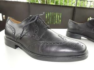 Details zu GEOX RESPIRA Herren Premium Business Budapester Schuhe Leder Schwarz Gr.40 Neuw