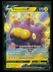 Pokemon-PINCURCHIN-V-072-192-Rebel-Clash-ULTRA-RARE-HOLO-MINT
