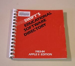 VERY RARE Book on Educational Software for the Apple II Plus, IIe, IIc, IIGS