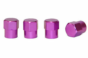 4-x-HEX-Purple-Metal-Tyre-Valve-Dust-Caps-Cars-Motorbikes-Bikes-Vans