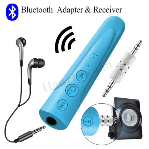 Wireless bluetooth 3.5mm Jack Audio Stereo Music Home Car Receiver Adapter AUX