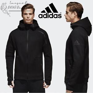 0796e40319d6 adidas Z.N.E Men s Track Hoodie ZNE Black Sports Hooded Full Zip ...