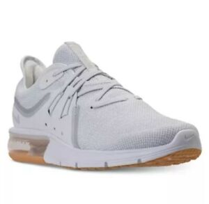 Details about Nike Air Max Sequent 3 Mens Running Shoe WhiteGreySilver 921694 101 NEW All Sz