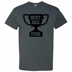 Best-Dad-Ever-Trophy-on-a-Dark-Heather-Short-Sleeve-T-Shirt