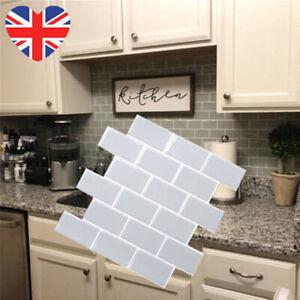 12 12 Inch 3d Self Adhesive Kitchen Wall Tiles Mosaic Tile Sticker Peel Stick Uk Ebay