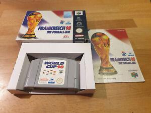Francia 98: la copa del mundo Nintendo 64 n64 Boxed cib OVP pal World Cup