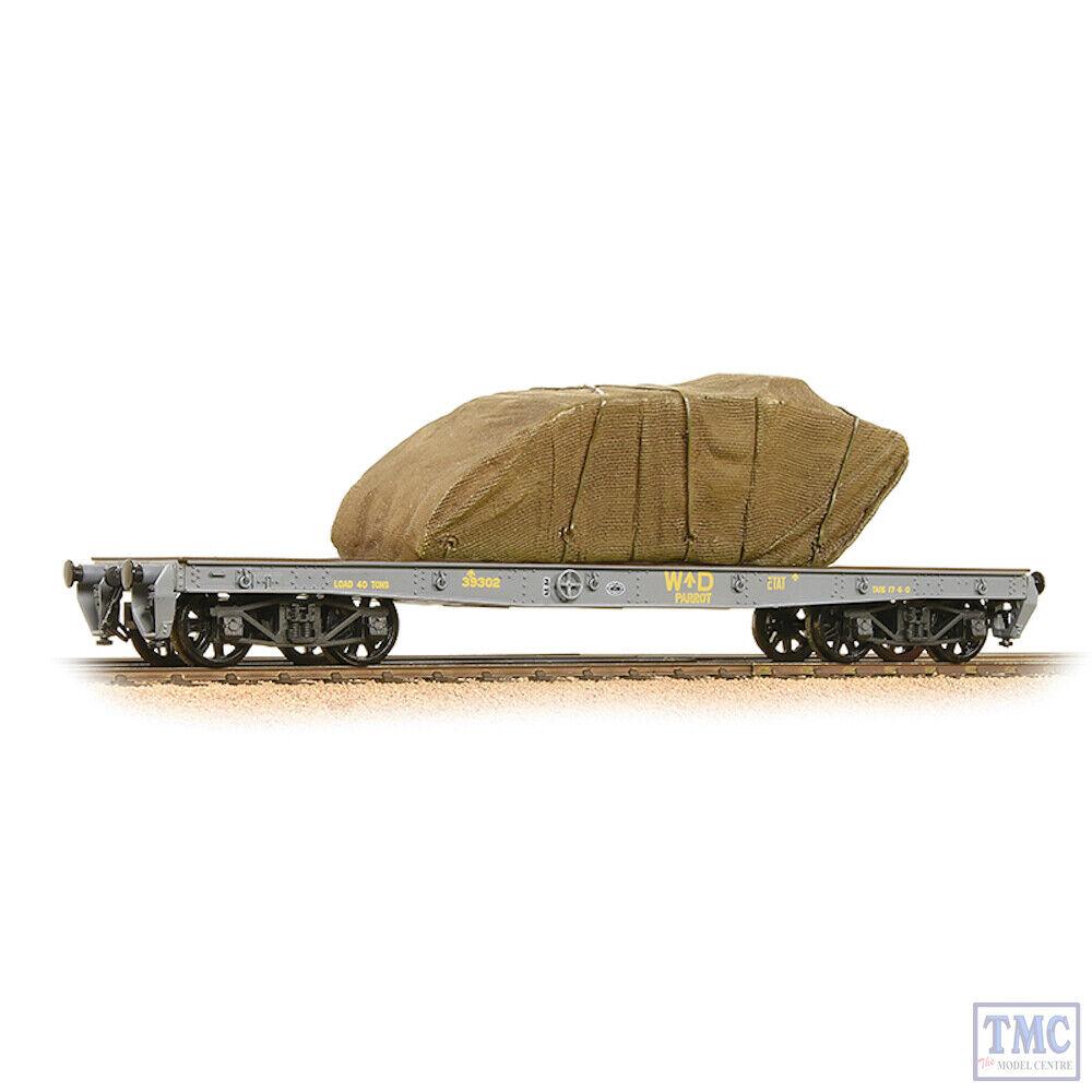38-740 Bachmann OO Gauge WD 40T 'Parrot' Bogie Wagon WD grau With Sheeted Tank