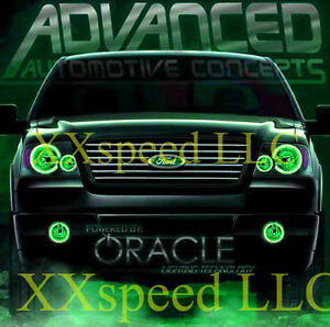 Image is loading ORACLE-Ford-F-150-F150-04-08-GREEN-  sc 1 st  eBay & ORACLE Ford F-150 F150 04-08 GREEN LED Headlight + Foglight Halo ... markmcfarlin.com