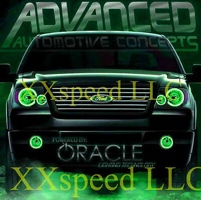 ORACLE Ford Mustang 2005-2009 GREEN LED Headlight Halo Angel Eyes Kit