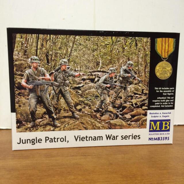 plastic kit 1//35 Master Box 3595 US 4 Soldiers Jungle Patrol Vietnam War Series