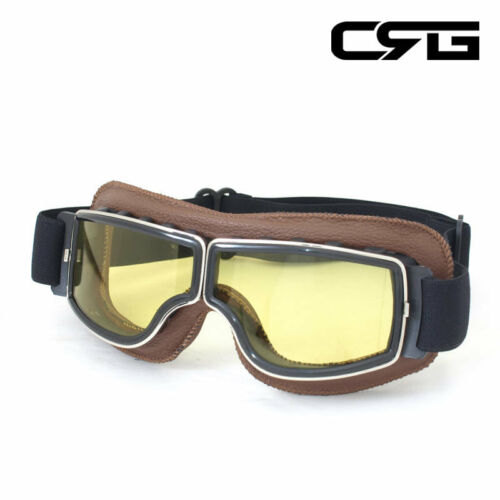 New CRG Vintage Bike Aviator Pilot Style Motorcycle Cruiser Scooter Goggles T13