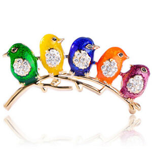 Spilla-fermaglio-Uccellini-sul-Ramo-accessorio-bijoux-cappotto-uccello-uccelli