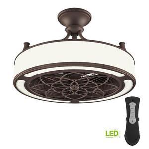 Ceiling Fan Led Light 3 Blade Downrod Mount Indoor Outdoor
