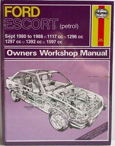 Haynes-Ford-Escort-Sept-1980-88-Tous-Modeles-Proprietaire-Atelier-Manuel