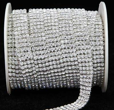 NEW Crystal Diamante Rhinestone Chain Banding 1 2 3 4 6 Row Cake Decoration SS16