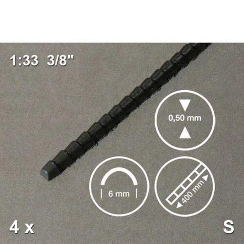 tiefgezogen 9,26€//m 4 Stück 390 mm lang Firstziegel 1:33 schwarz