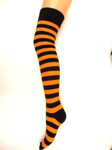 Nouvelle robe mesdames rayé au-dessus du genou cuisse haute chaussettes bas robe fantaisie