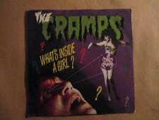 "The Cramps, What's Inside a Girl, purple vinyl, 7"" p/s, EEC pressing, punk"