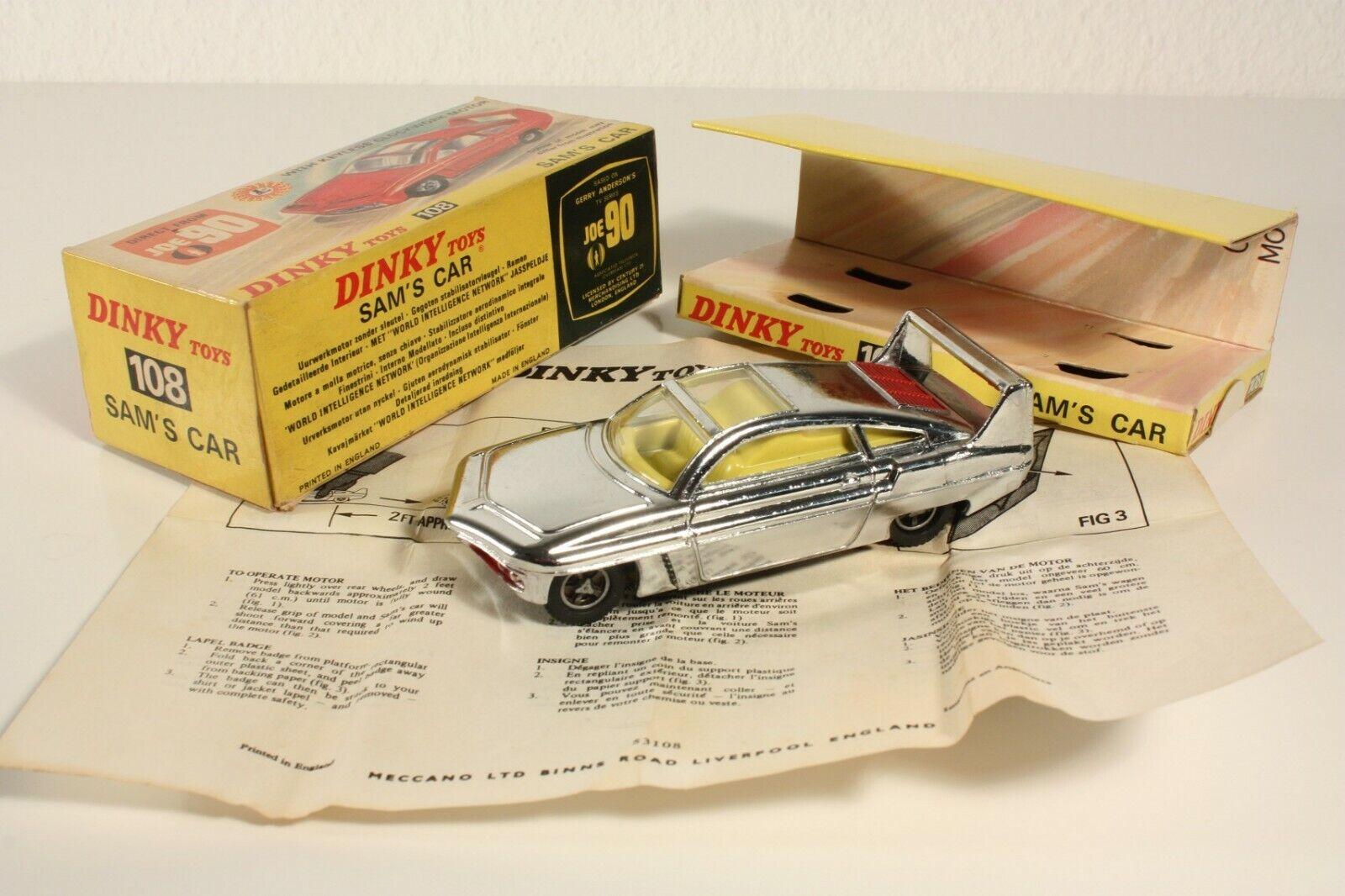 Dinky Toys 108, Sam's Car, Mint en Box  ab2284