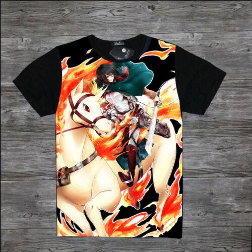 Cosplay Shingeki no Kyojin Attack on Titan Anime Manga T-Shirt Kostüme Schwarz