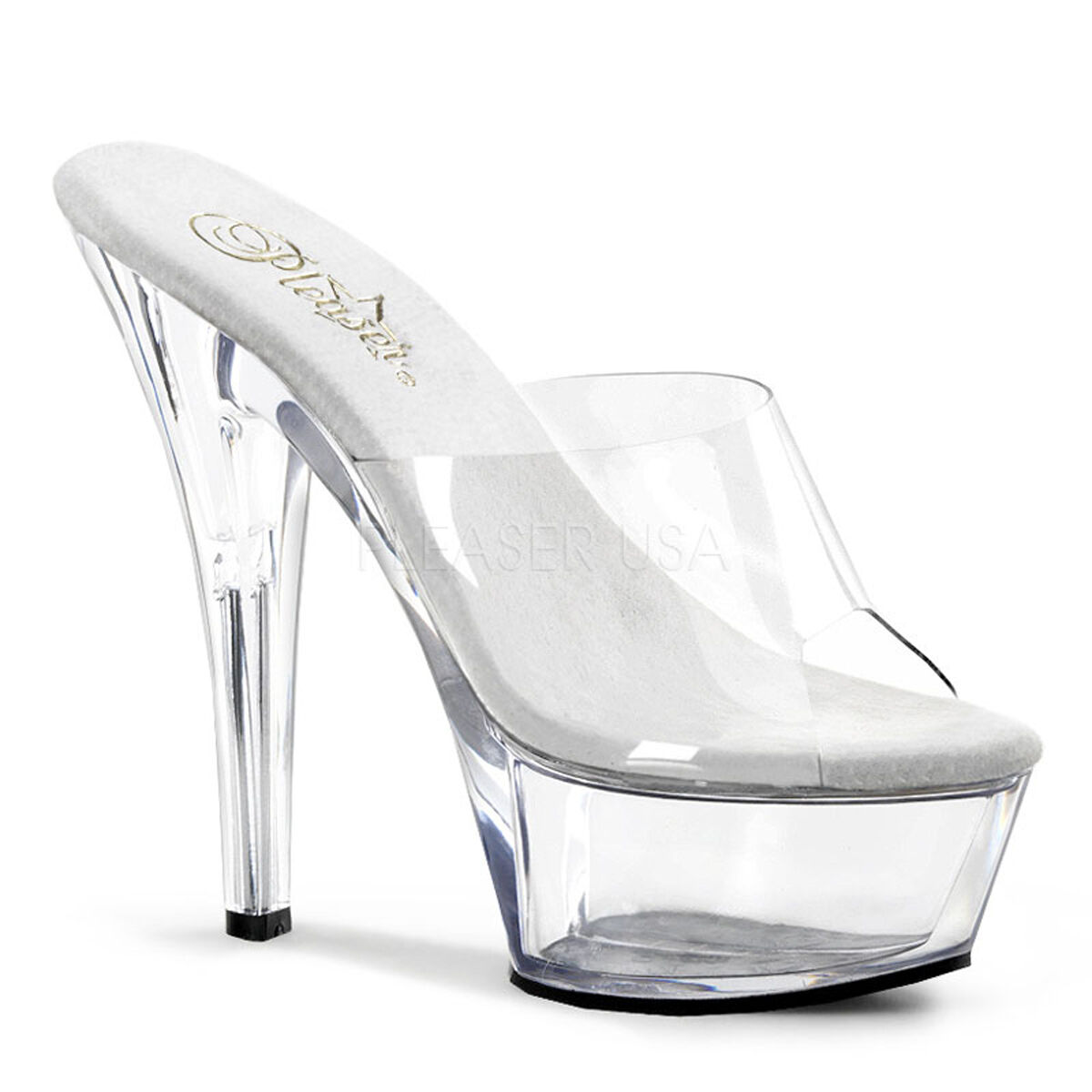Pleaser Kiss-201 Ladies Clear Stiletto Stiletto Stiletto Heel Platform Slide Pole Dance shoes 974017