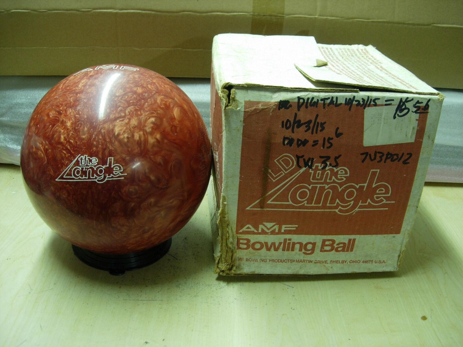 15oz TW 3.5 AMF 1987 Angle LD (Limited Distance) orange Swirl Urethane Ball