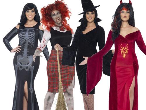Plus Size Ladies Halloween Fancy Dress Costume Curves Adult Zombie UK 16-30