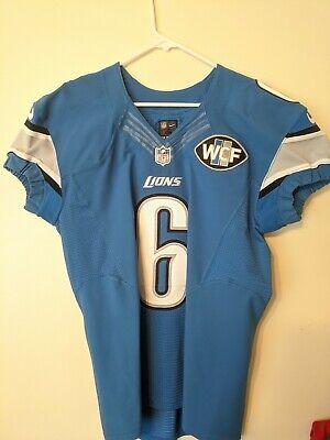 Authentic Game Worn Nike Detroit Lions Sam Martin Elite Jersey - Autographed | eBay