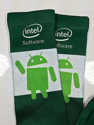 Android Software Bot Intel Green Promotional Socks New Rare