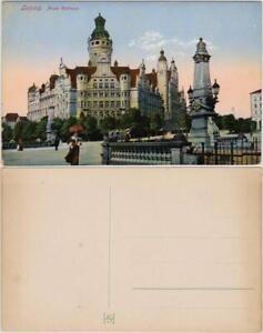 Ansichtskarte-Leipzig-Partie-am-Neuen-Rathaus-1913