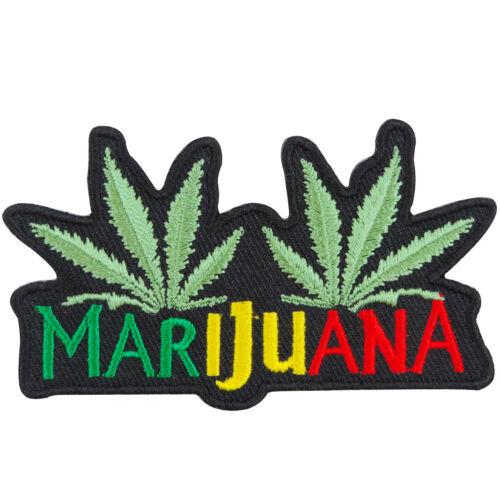 Marijuana Weed Leaf Cannabis Pot Funny Rasta Reggae Hippie Iron-On Patches #R044