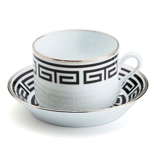Richard Ginori - Labirinto noir -  Tazza The con Piatto- Giò Ponti