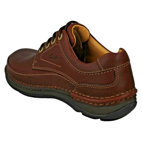 Herren Clarks Schnürer Freizeit Active Air Flow Vollleder Schuhe Natur Drei Size