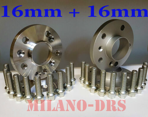 KIT 4 DISTANZIALI RUOTA 16+16mm MERCEDES CLK 1997//2002  Bullone SFERICO W208