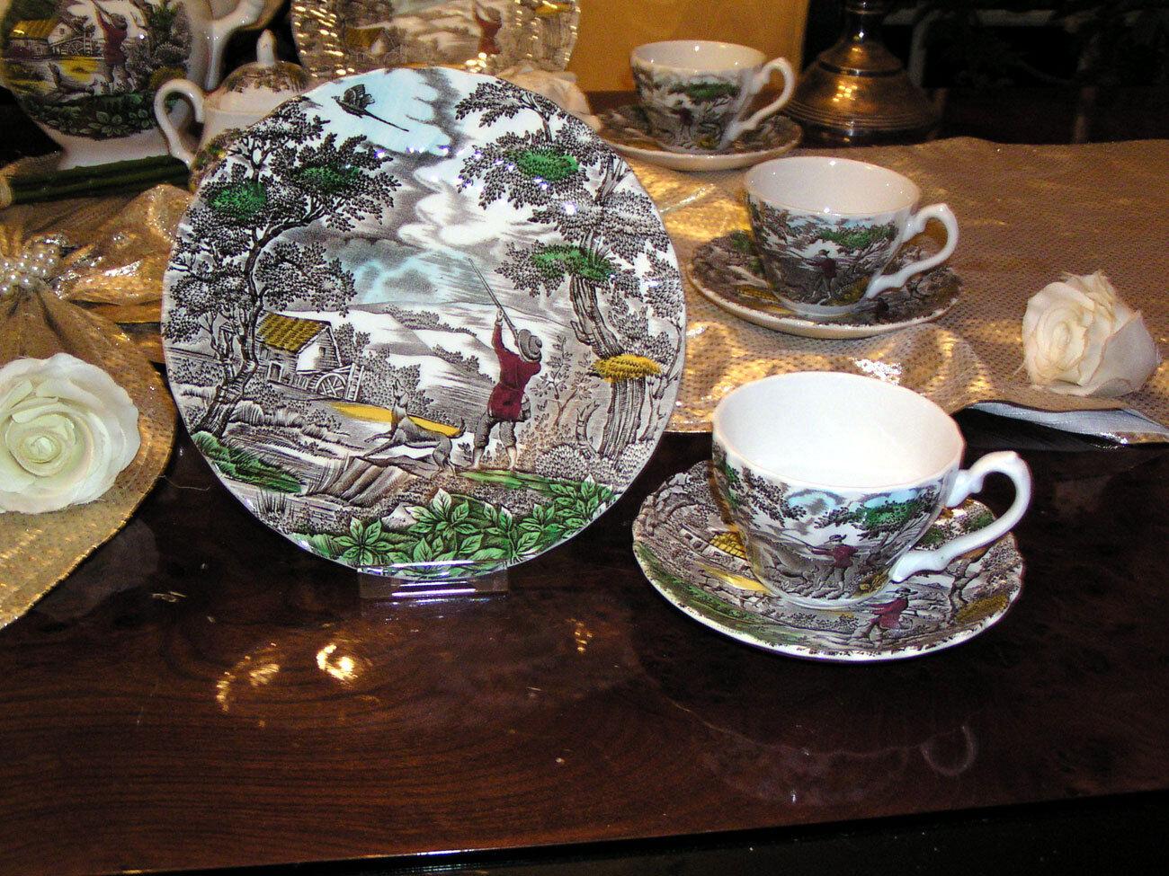 Speiseservice + Kaffeeservice Myott England The Hunter multi colours colours colours 37 teilig   | Vorzugspreis  2e9251