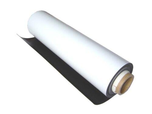 "White MATTE finish 20 mil 0.020/""x 24/"" x 10 ft of Flexible Magnet Roll"