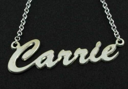 STERLING SILVER NAME CHAIN CARRIE SEX CITY PERSONALISED MAKE ANY NAME NECKLACE