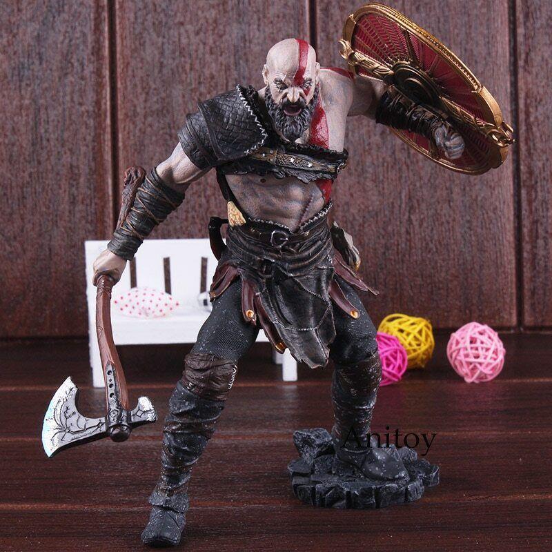 ⭐ ⭐ Kratos Dios De Guerra Estatua De Juego De 4 Figuras De Acción De Regalo + + ⭐ ⭐