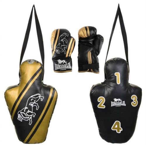 Lonsdale Club Junior Padded Gloves And Punch Torso Set