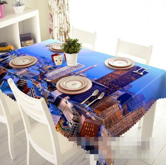 3D New York 222 Tablecloth Table Cover Cloth Birthday Party Event AJ WALLPAPER